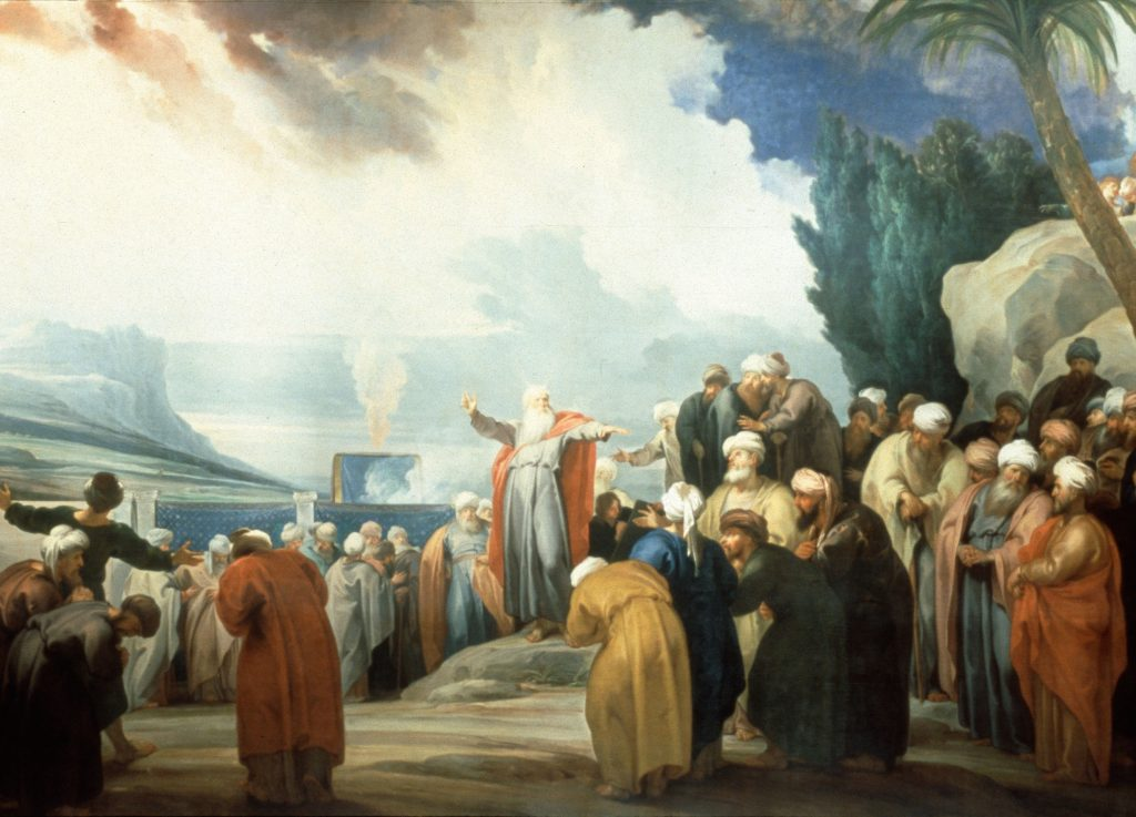 Moses Elects the Seventy Elders