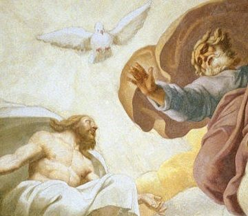 Painting of the Interior of the Dome Depicting the Holy Trinity