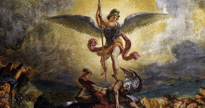 The Devil is real, spiritualism, St. Michael the Archangel defeating Satan