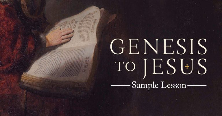 Genesis to Jesus, free streaming, genesis to jesus participant workbook, leader guide