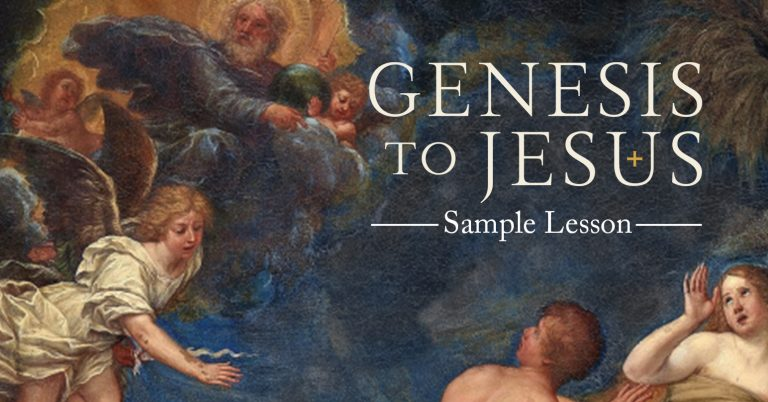 Genesis to Jesus, creation, seventh day, salvation history, matthew leonard