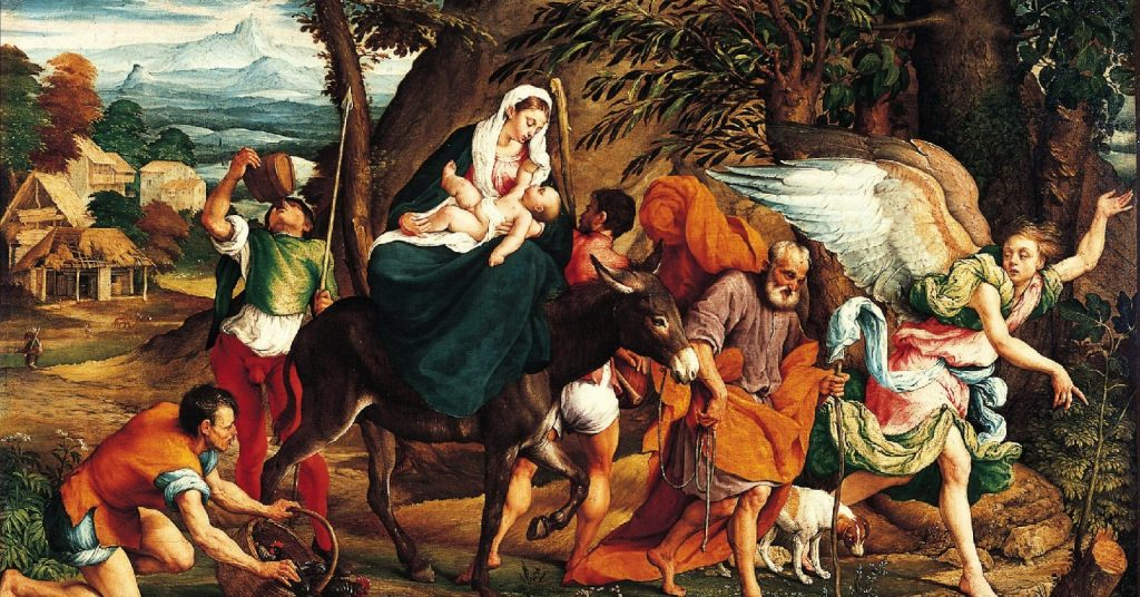 The Holy Family, flight into Egypt, learning from the holy family