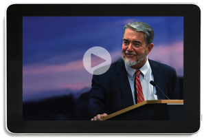 Scott Hahn on an iPad