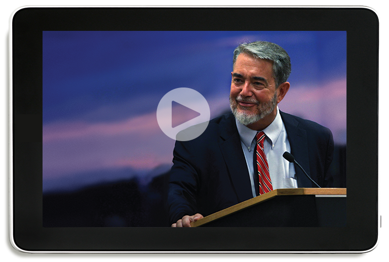 Scott Hahn on a tablet
