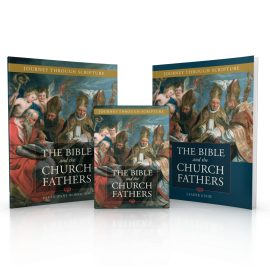 Bible and the Church Fathers Books and DVD box