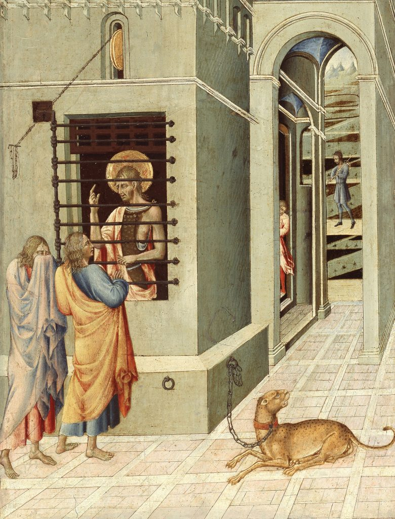 Saint John the Baptist in Prison Visited by Two Disciples