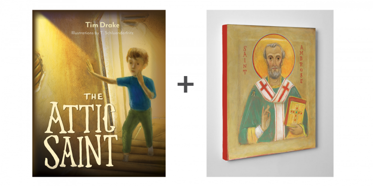 The Attic Saint with St. Ambrose Icon
