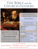 Bible and the Church Fathers Parish Poster
