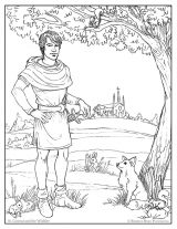 The Attic Saint Coloring Page