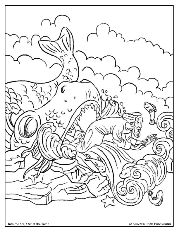 Into the Sea Out of the Tomb Coloring Page