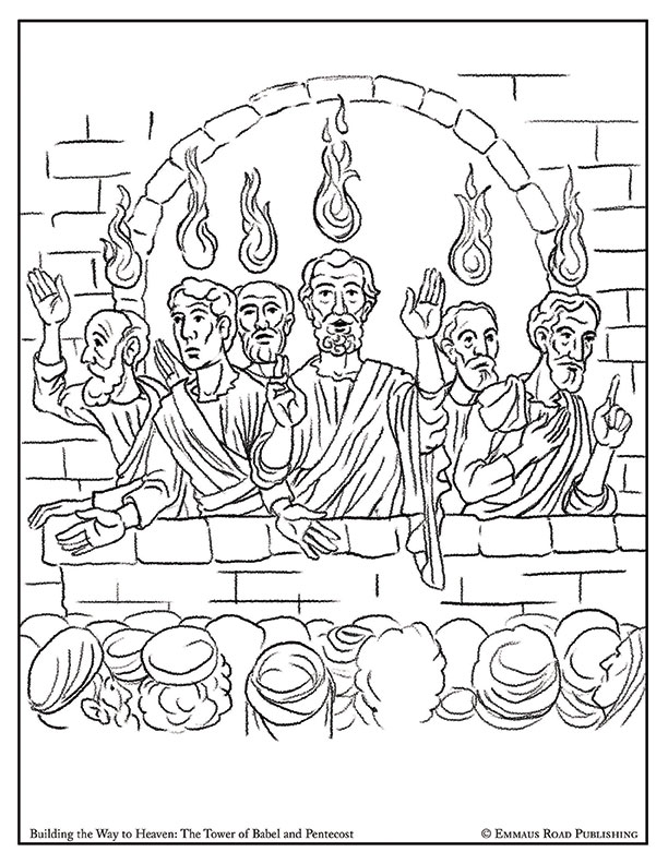Building the Way to Heaven Coloring Page