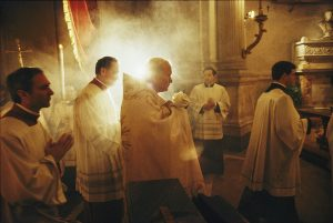 john paul ii, eucharist, spiritual battle